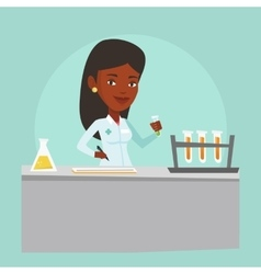 Laboratory assistant working vector