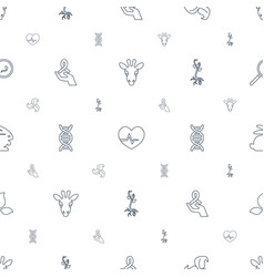 life icons pattern seamless white background vector image