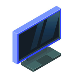 light blue modern gaming monitor isometric vector image
