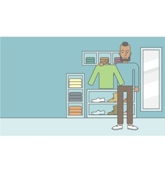 Man in store vector image