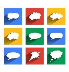 Modern speech bubbles se vector image