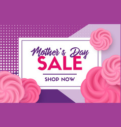 mothers day sale card discount template vector image