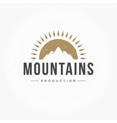 Mountain Hand Drawn Logo Template Design vector