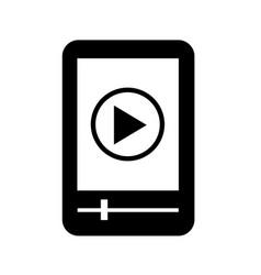 mp3 player icon design vector image