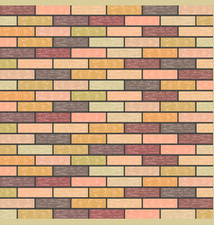 Multicolored marble brick background in retro vector