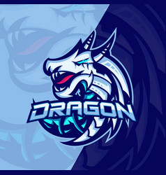 Mythological animals dragon sport esport gaming vector