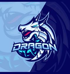 mythological animals dragon sport esport gaming vector image