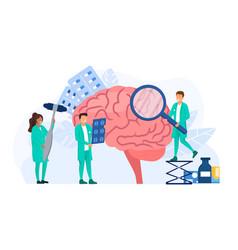 Neurology doctors making surgery vector