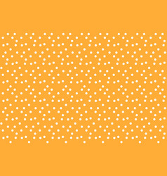 Orange background random polka dots seamless vector
