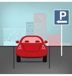 parking lot vector image