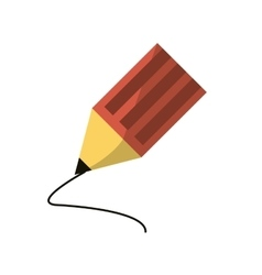 Pencil object and school tool design vector
