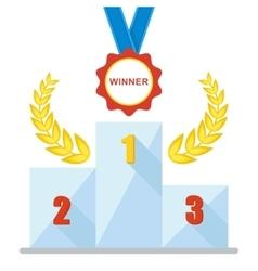 Podium winner medal icon vector