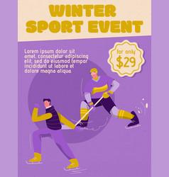 Poster winter sport event concept vector