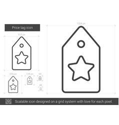 Price tag line icon vector