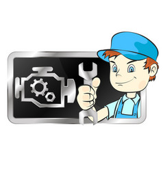Repair of car engines vector