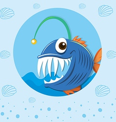 Sea monster under the sea vector
