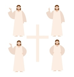 Set of Jesus vector