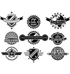 SET OF VINTAGE LABEL COLLECTION vector