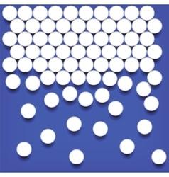 Set of White Pills vector