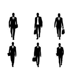 Six businessmen set vector