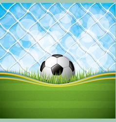 Soccer ball on grass background vector
