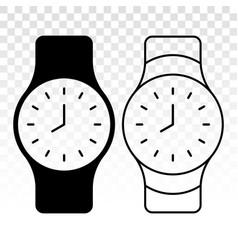 Sport wrist watch wristwatch flat icon for apps vector