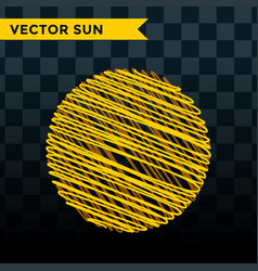 sun burst star icon summer vector image