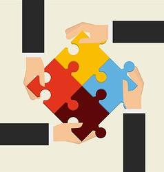 teamwork design vector image