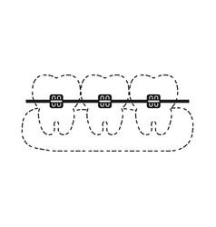 Teeth with brackets ico vector