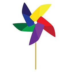 Toy windmill vector image