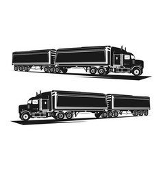 trailer design with 9 wheels vector image