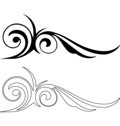 Two Elegance Elements vector image vector image