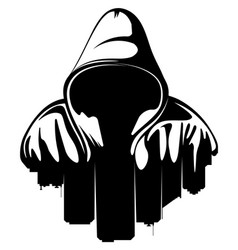 Urban style hooded man city silhouette vector