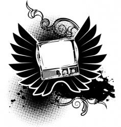 vintage TV sign vector image