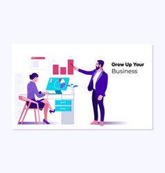 Web page design template business vector