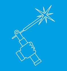 Welding torch icon outline vector