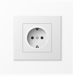 White power socket vector