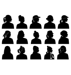 Women portraits vector