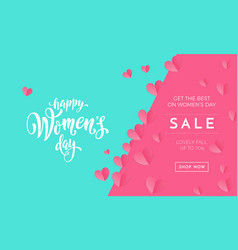 womens day sale poster or banner for mothers day vector image