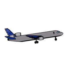 airplane passenger commercial transport outline vector image