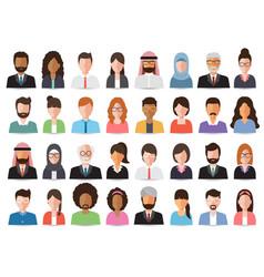 businessmen and business women avatars vector image