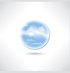 cloud icon weather sign cloudy sky button isolated vector image