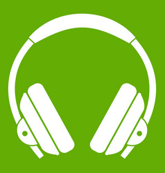 headphone icon green vector image