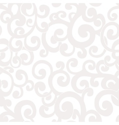 Seamless abstract white background with swirls vector image vector image
