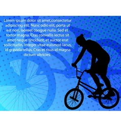 stunt bicyclist vector image vector image