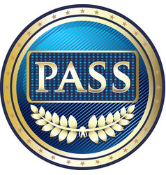 vip pass icon vector image