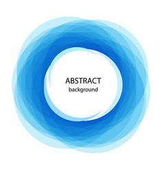 abstract background with blue circles blue line vector image vector image