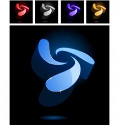 abstract symbols vector image vector image