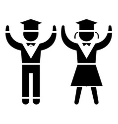 graduation - students - teaching people icon vector image