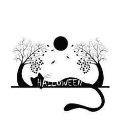 halloween silhouette vector image vector image